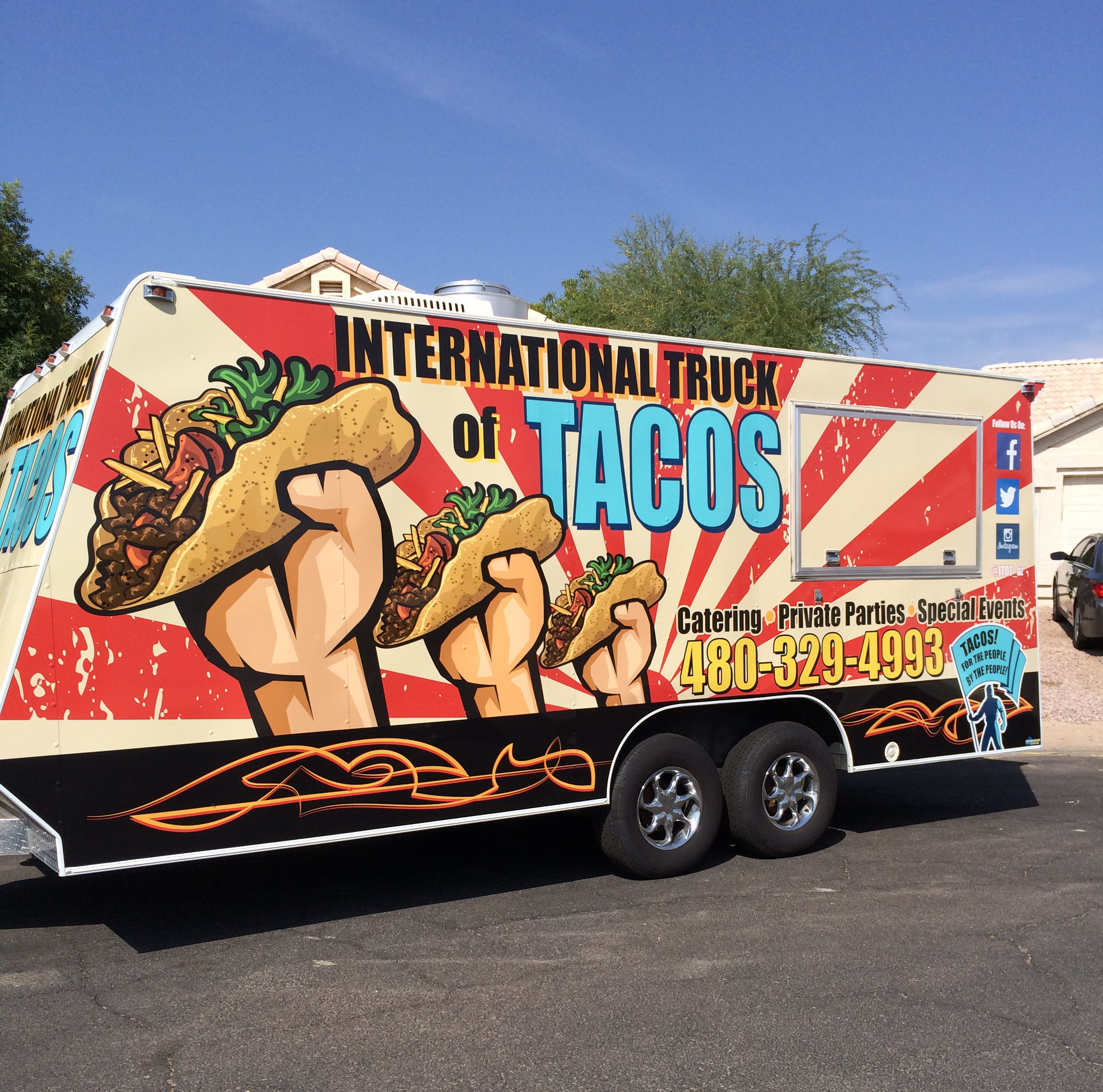 International Truck of Tacos catering private parties special event